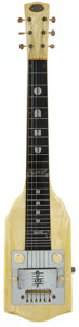 Musical Instruments:Lap Steel Guitars, 1951 Oahu White MOTS Lap Steel Guitar, Serial # V35916....