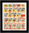 Baseball Cards:Singles (1930-1939), 1934 Goudey Baseball High Number Uncut Sheet with 1933 NapoleonLajoie #106....