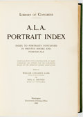 Books:Reference & Bibliography, William Coolidge Lane and Nina E Browne, editors. Library ofCongress. A. L. A. Portrait Index: Index to Portraits Conta...