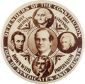 """Political:Pinback Buttons (1896-present), William Jennings Bryan: The Terrific """"Defenders of the Constitution: Design in Spectacular 2 ¼-inch Size...."""