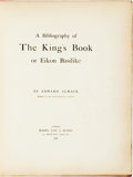 Books:Reference & Bibliography, Edward Almack. LIMITED. A Bibliography of the King's Book, orEikon Basilike. London: Blades, East, & Blades, 18...