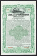 Miscellaneous:Other, Tampa & Gulf Coast Railroad Co. $1000 Bond 1913 Specimen.. ...