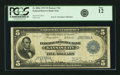 Fr. 800a $5 1915 Federal Reserve Bank Note PCGS Fine 12