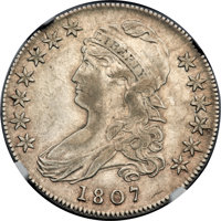 1807 50C Capped Bust, Large Stars, 50 Over 20, O-112, R.1, AU53 NGC....(PCGS# 39356)