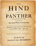 Books:Literature Pre-1900, Matthew Prior & Charles Montagu, Earl of Halifax. The Hindand the Panther transvers'd to the Story of theCountry-Mouse...