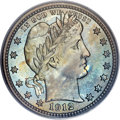 Proof Barber Quarters, 1912 25C PR68 Cameo PCGS. CAC....