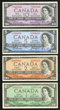 Canadian Currency: , A Quartette of Bank of Canada Notes from the 1954 Issue.. ...(Total: 4 notes)