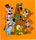 Animation Art:Presentation Cel, Scooby-Doo and Friends Publicity Cel (Hanna-Barbera,1970s)....