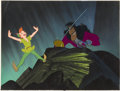 Animation Art:Production Cel, Peter Pan Captain Hook Production Cel with Key MasterBackground (Walt Disney, 1953)....