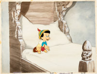 Pinocchio Pinocchio as a Real Boy Production Cel with Master Painted Background (Walt Disney, 1940).... (Total: 2 )