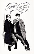 Original Comic Art:Sketches, Jaime Hernandez - Maggie and Hopey Commission Sketch Original Art (1982)....