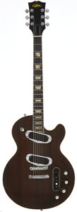 Musical Instruments:Electric Guitars, 1970's Aria Recording Brown Solid Body Electric Guitar....