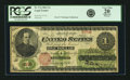 Large Size:Legal Tender Notes, Fr. 17a $1 1862 Legal Tender PCGS Very Fine 20 Apparent.. ...