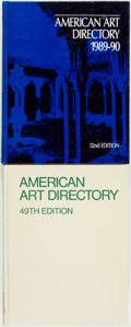 Books:Reference & Bibliography, [American Art Directory.] 49th and 52nd Editions of American ArtDirectory. New York: R. R. Bowker, [1982 and 1989].... (Total:2 Items)