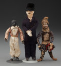Miscellaneous, THREE CONTINENTAL COMPOSITION, FABRIC AND BISQUE GENTLEMEN DOLLS,circa 1890. 6-1/2 inches high (16.5 cm) (highest). PROPE... (Total:3 Items)