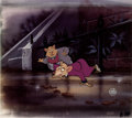 Animation Art:Production Cel, The Great Mouse Detective Basil and Dawson Production CelSetup (Walt Disney, 1986).... (Total: 2 Items)