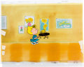 "Animation Art:Production Cel, Charlie Brown and Snoopy Show ""Chaos In The Classroom"" SallyBrown and Woodstock Production Cel Setup and Animation Dr...(Total: 9 Original Art)"