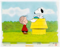 Animation Art:Production Cel, The Charlie Brown and Snoopy Show Linus and SnoopyProduction Cel Setup and Animation Drawing Group (Bill Melendez,19...