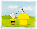 Animation Art:Production Cel, Charlie Brown and Snoopy Show Charlie Brown and SnoopyProduction Cel Setup and Animation Drawing Group (Bill Melendez...(Total: 4 Original Art)