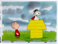 Animation Art:Production Cel, Charlie Brown and Snoopy Show - Spain Edition Linus and WWIFlying Ace Production Cel Setup and Animation Drawing Grou...(Total: 5 Items)