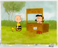 Animation Art:Production Cel, Charlie Brown and Snoopy Show Charlie Brown, Woodstock, and Lucy Van Pelt Production Cel Setup and Animation Drawing G... (Total: 6 Original Art)