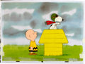 Animation Art:Production Cel, Charlie Brown and Snoopy Show - Spain Edition WWI Flying AceProduction Cel Setup and Animation Drawing Group (Bill Me...(Total: 4 Original Art)