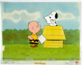 Animation Art:Production Cel, Charlie Brown and Snoopy Show Production Cel Setup andAnimation Drawing Group (Bill Melendez Productions, 1983)....(Total: 3 Original Art)