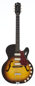Musical Instruments:Electric Guitars, Circa 1960 Harmony Rocket Sunburst Semi-Hollow Body ElectricGuitar, Serial # 4712H59....