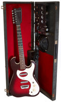 Musical Instruments:Electric Guitars, Circa 1964 Silvertone 1457 Amp-in-Case Redburst Solid Body ElectricGuitar, Serial # 185-11090....