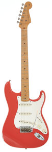 Musical Instruments:Electric Guitars, 1957 Fender Stratocaster Fiesta Red Solid Body Electric Guitar,Serial # 023871....