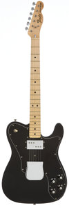Musical Instruments:Electric Guitars, 1974 Fender Telecaster Custom Black Solid Body Electric Guitar,Serial # 555249....
