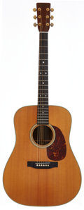 Musical Instruments:Acoustic Guitars, 1975 Martin D-28 Natural Acoustic Guitar, Serial # 355870....