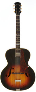 Musical Instruments:Acoustic Guitars, Late 1940's Vega C26 Sunburst Archtop Acoustic Guitar, Serial #5228....