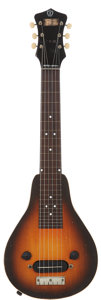 Musical Instruments:Lap Steel Guitars, 1938 Recording King Roy Smeck AB104 Sunburst Lap Steel Guitar,Serial # DWE414....