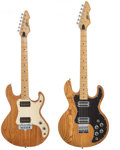 Musical Instruments:Electric Guitars, Early 1980's Peavey T-60 and T-15 Natural Solid Body Electric Guitar, Serial # 01455370/01080461.... (Total: 2 Items)