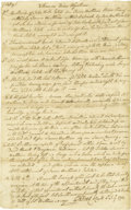 """Autographs:Statesmen, Declaration of Independence Signer George Read Autograph Document Signed Twice, """"Geo Read"""", with a second signature on t..."""