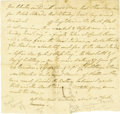 Military & Patriotic:Revolutionary War, American Revolution: A Spy Reports on the Charleston Expedition of1780 This is a very fine content manuscript letter, one p...