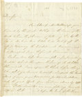 "Military & Patriotic:Revolutionary War, Thomas Fitzsimons Autograph Letter Signed, ""ThosFitzSimons"". Three pages 7.75"" x 8. 9"", New York, August 1,1790, to Dr..."