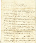 "Autographs:U.S. Presidents, James Knox Polk Autograph Letter Signed, ""James K. Polk"", 21/2 pages with free-franked address panel on verso, 8"" x 10""..."