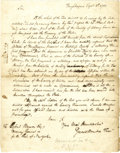 "Military & Patriotic:Revolutionary War, (American Revolution) Gerard Bancker Autograph Letter Signed, asTreasurer of New York. One page, 8.25"" x 10.5"",..."