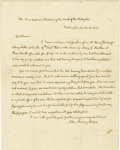 "Autographs:U.S. Presidents, John Quincy Adams Autograph Letter Signed ""John QuincyAdams"". Two pages, 7.75"" x 10"", Washington, March, 24, 1824 toth..."