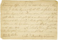 "Autographs:Statesmen, [Whiskey Rebellion: Alexander J. Dallas]. Autograph Document Signed""Peter Baynton, Treasurer,"" one page, 8"" x 5.5"". Tre..."