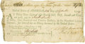 "Autographs:Statesmen, Francis Hopkinson Document Signed, ""Fr. Hopkinson"". Onepage, 8"" x 4.25"", (np), September, 13, 1779, a bill of exchange ..."