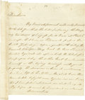 "Autographs:Statesmen, Thomas Fitzsimons Autographed Letter Signed, ""ThosFitzsimons"". Two pages, 8"" x 8.75"", Philadelphia, July 2, 1790to Dr...."