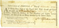 "Autographs:Statesmen, Declaration of Independence Signer Francis Hopkinson DS, ""FHopkinson"", partially printed document, one page, 8.5"" x 4"",..."