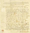 "Autographs:Statesmen, Declaration of Independence Signer Josiah Bartlett DS, two pages,6.75"" x 8"", Kingstown, New Hampshire, November 4, 1769. Th..."