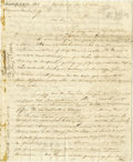 """Autographs:Statesmen, Theodore Foster Autograph Letter Signed """"Theodore Foster"""", 8pages, 8"""" x 10"""", """"Federal City"""" [Washington], December ..."""