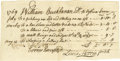 "Autographs:Statesmen, Declaration of Independence Signer Lewis Morris DS, one page withverso endorsement, 7.5"" x 4"", n.p. (likely New York), May ..."
