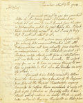 "Autographs:Statesmen, Declaration of Independence Signer William Ellery ALS, ""WEllery"", three pages, 6.25"" x 8"", Princeton, New Jersey,Novem..."