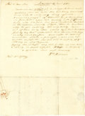 "Autographs:Statesmen, Declaration of Independence Signer William Williams ALS, ""Wm.Williams"", one page, 7.5"" x 10.5"", Lebanon, Connecticut, D..."